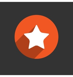 Star icon long shadow flat design vector
