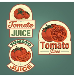 Tomato juice labels set vector image vector image