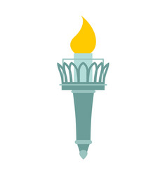Torch of statue of liberty lighthouse for ships vector