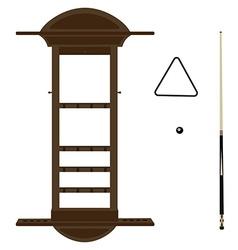 Wall cue rack vector