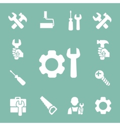 Working tools isolated icons set of hammer wrench vector