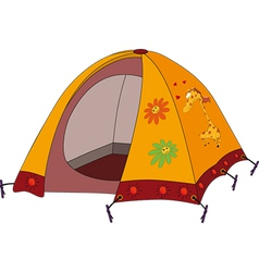 Childrens tourist tent vector