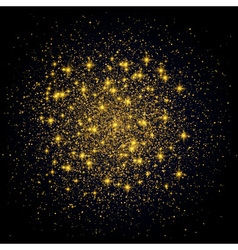 Sparkling background gold explosion on black vector