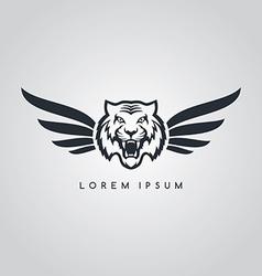 tiger aviator symbol logo logotype theme vector image