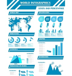 Infographic demographics 9 vector