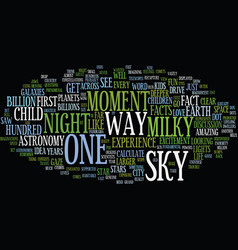 The night sky text background word cloud concept vector