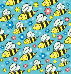 seamless honey bees vector image