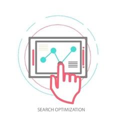 line design concept of website analytics vector image