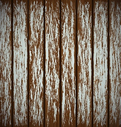 Old wooden wall with peeling paint vector
