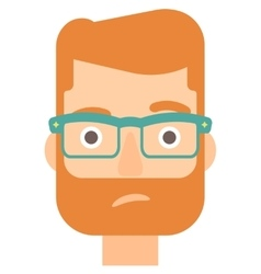 Envious man in glasses vector