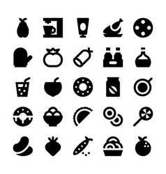 Food and drinks icons 7 vector