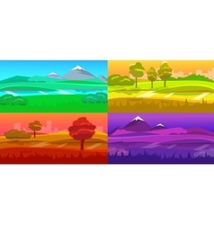 Cartoon desert evening landscape vector