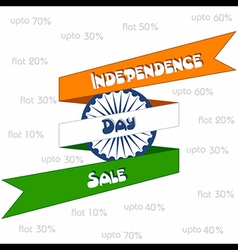 Independence day sale greeting stock vector