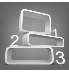 Abstract 3d frames with place for text vector