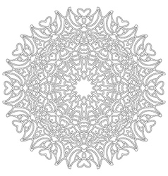 adult coloring book lovely mandala black and white vector image vector image