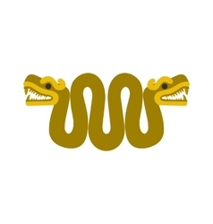 Aztec snake with two heads icon flat style vector image vector image