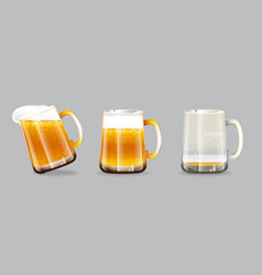 Beer glasses vector
