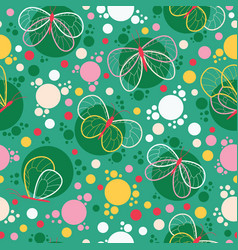 Bright colorful butterflies seamless pattern vector