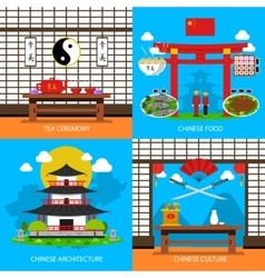 Chinese Concept Icons Set vector image vector image