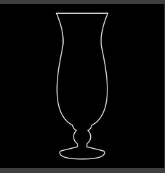 Cocktail glass white color path icon vector