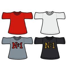 Color t-shirts vector