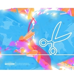 Creative scissor art template vector