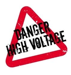 Danger high voltage rubber stamp vector