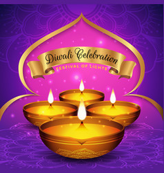 Diwali festival flyer and poster background vector