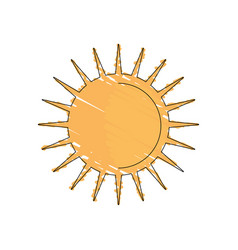 Drawing sun weather day image vector