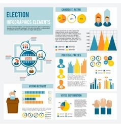 Election Icon Infographic vector image