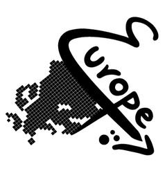 Europe symbol vector image vector image