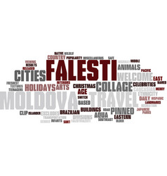 Falesti word cloud concept vector