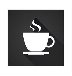 flat icon of simple coffee cup vector image vector image