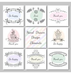 frames for text hand-drawn vector image