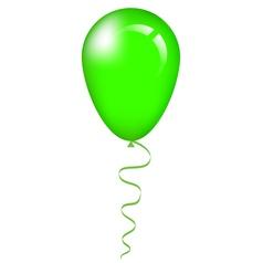 Green balloon vector