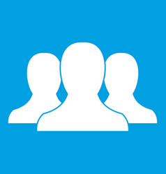 group of people icon white vector image