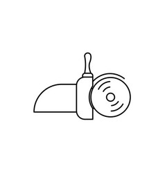 hand circular saw icon vector image