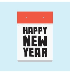 Happy new year calendar vector image