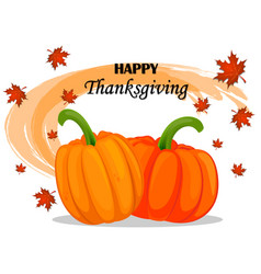 happy thanksgiving day greeting card with vector image vector image