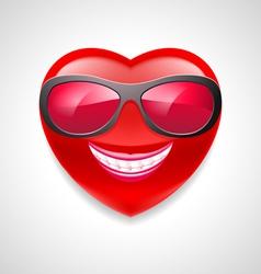 Heart character vector image