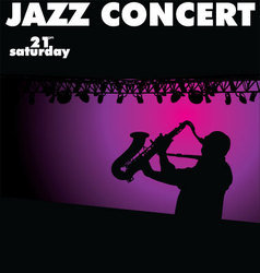 Jazz concert wallpaper vector image