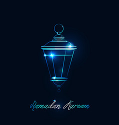 Lantern for a holiday vector