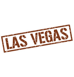 Las vegas brown square stamp vector