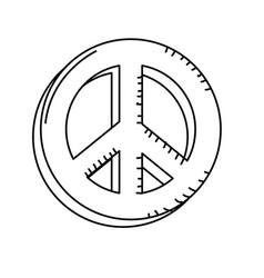 Line beauty hippie emblem symbol design vector