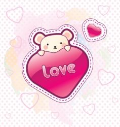 love bear vector image vector image