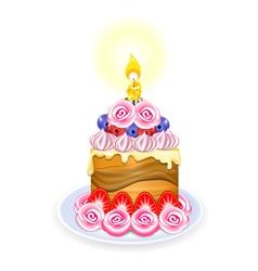 mini cake vector image vector image