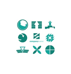 objects logo elements vector image vector image
