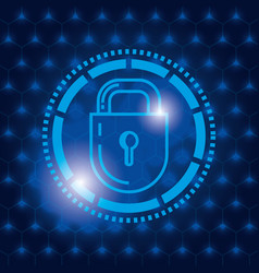 padlock secure technology icon vector image