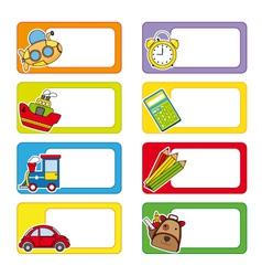 school labels vector image vector image