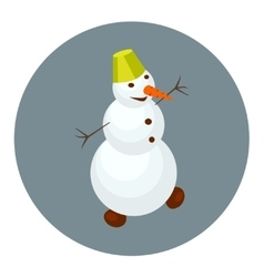 Snowman cartoon icon vector image